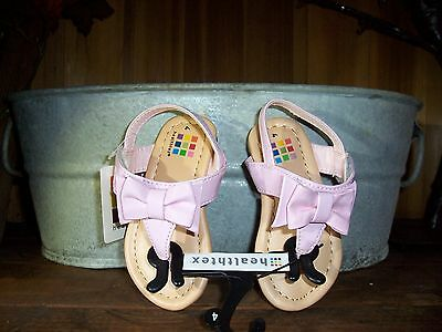 Healthtex Girls Slippers With Pink Bow Size 9 Color Pink Easter Shoes Casual
