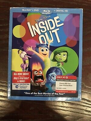 Inside Out Pixar Disney Blu-ray DVD Computer Animated Classic Target Exclusive