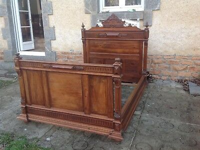 French antique vintage Henri ii style double bed