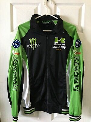 ad1a2343 RARE Monster Energy Kawasaki MotoGP Jacket 2003/2006 Team Eckl Vintage Xl  Hat