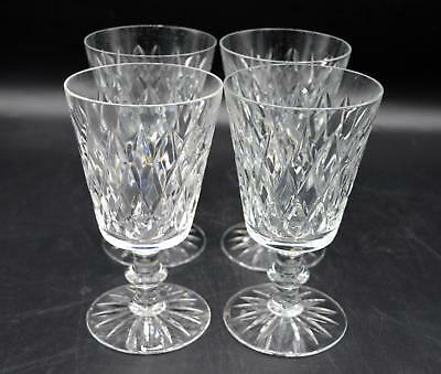 Set of 4 Beautiful Crystal Water/Wine Goblets - Diamond Pattern