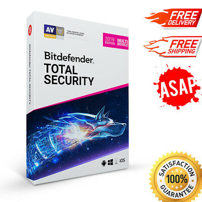 Bitdefender Total Security MultiDevice 2019, 5 PC- 1 year MAC, Windows & Android