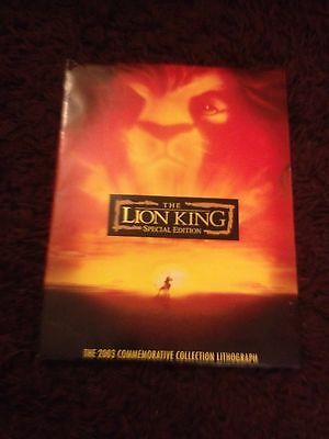 Lion King Special Edition 2003 Commemorative Collection Lithograph + 4 Postcards