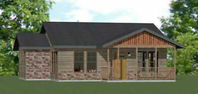 32X28 HOUSE -- 1 Bedroom 1 Bath -- 824 sq ft -- PDF Floor Plan