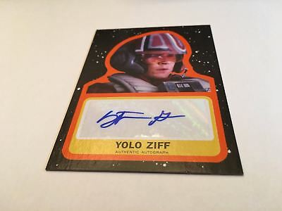 Topps Star Wars 2017 Journey To The Last Jedi Orange Auto Yolo Ziff 03/25