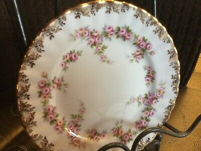 ROYAL ALBERT DIMITY ROSE SIDE PLATE/ BREAD AND BUTTER PLATE 8  8 available