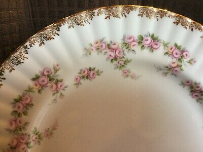 ROYAL ALBERT DIMITY ROSE DINNER PLATE (6 available)