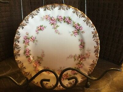 "ROYAL ALBERT DIMITY ROSE DESSERT PLATE 6 1/2"" (8 available)"