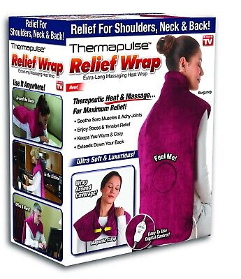 Thermapulse Relief Wrap, Extra-Long Massaging Heat Wrap