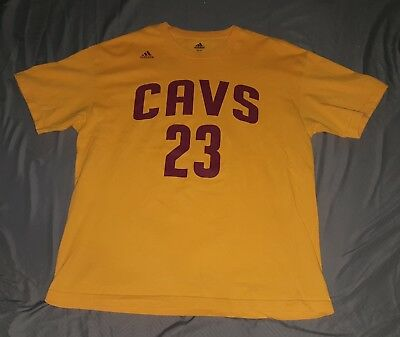 competitive price f4a82 675d1 ADIDAS LEBRON JAMES Cleveland Cavs NBA Finals Yellow Jersey ...