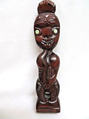 Wood Carving Totem Figurine Statue Neew Zealand