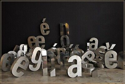 Vintage Shop Letters Steel Chunky Wall Art Vintage Sign, French quality salvage