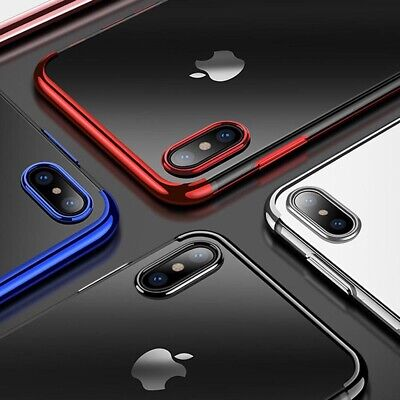 Plating Soft Silicone Hybrid Clear Case Cover For iPhone XS Max XR X 8 7 6 Plus