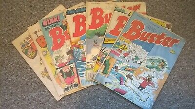 Vintage Buster Comics (7) 1980/88. £2 The Lot!