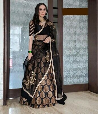 Other Women's Clothing Indian Party Wear Lehenga Lengha Choli Pakistani Actual Pic Black Lenghacholi Cheap Sales Clothing, Shoes & Accessories