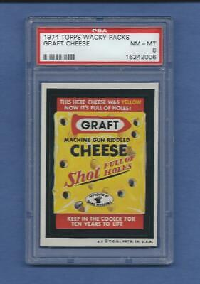 Wacky Packages Series 5 Graft Cheese Psa 8 Nmmt No Toning-Beauty!