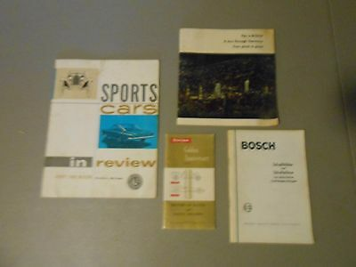 Lot Of 4 Vintage Automobilia Booklets,59 Firestone,Bosch,Henry Ford Museum,Cars