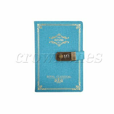 PU Leather Journal Writing Notebook, Vintage Peacock blue