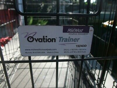 MidWest Homes For Pets Ovation Trainer 1924DD Double Door Metal Dog Cat Crate