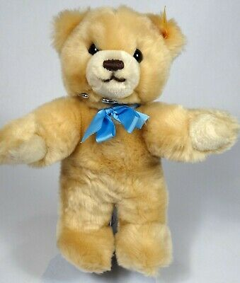 "STEIFF 9"" Molly Teddy Bear w/ Button & Ear Tag, Plush Stuffed Animal"