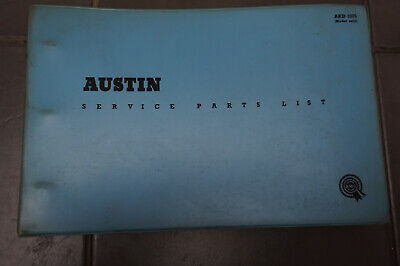 Original BMC Austen Seven Countryman Service Parts List 1961 - Mini - Rare