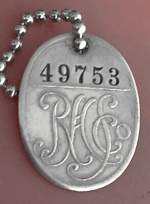 Vintage Charge Plate Coin Tag: RH STERNS; Famous Dept Store Boston MA