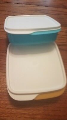 Tupperware New BLUE one ONly divided lunch container with white seal.