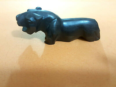 Authentic antique. Deluxe statue of  Hippo made of ebony