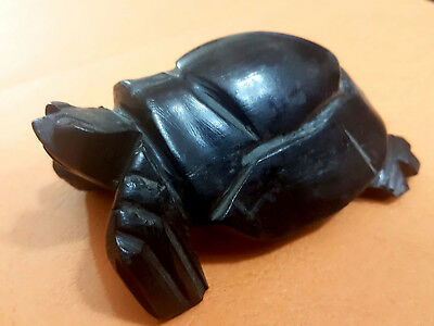 Authentic antique. Statue of  Turtle made of ebony