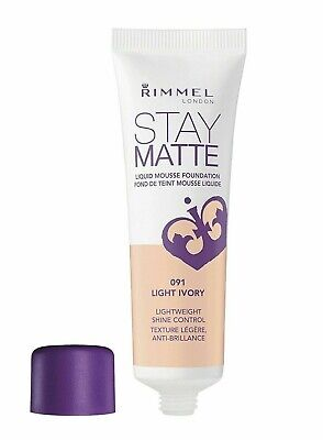 Rimmel London Stay Matte Liquid Mousse Foundation 30Ml **091 Ligh Ivory**