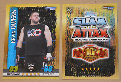 WWE SLAM ATTAX 10th - Exclusive card #A17 Kevin Owens (SmackDown Live)
