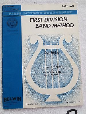 First Division Band Course: First Division Band Method, Pt 2, Fred Weber, 1963