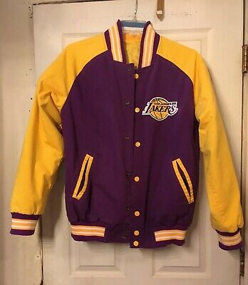 159979b01 MINNEAPOLIS LAKERS reversible to LOS ANGELES LAKERS CANVAS JACKET  NO  TAG USED