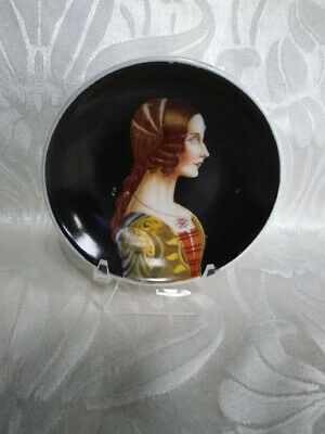 Lovely Antique Vintage Hand Painted Lady Portrait Butter Pat