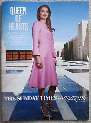 Queen Rania of Jordan -  Magnum - Sunday Times Magazine – 30 April 2017