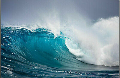 Best Quality Canvas Prints -  Ocean Wave Australia # 2 - Framed & Ready to Hang