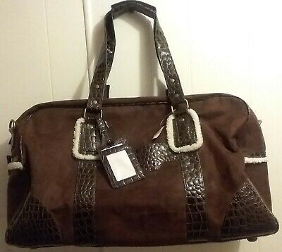 fceae780c03c Bath   Body Works Brown Luggage Duffle Carry On Travel Or Diaper Bag