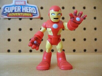 Playskool Marvel Super Hero Adventures IRON MAN Red Pale Yellow Circle Arc Light
