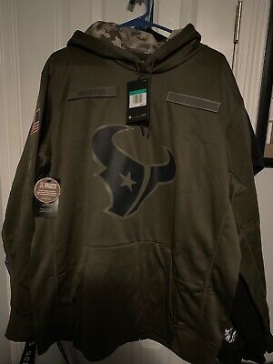 0ce4900306d 2018 HOUSTON TEXANS Nike Salute to Service Hoodie NWT - IN HAND ...