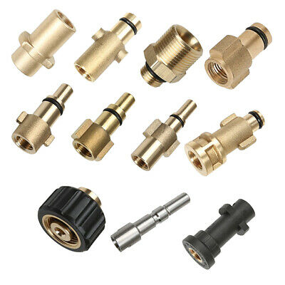 Brass Pressure Washer Quick Connector Snow Foam Lance Cannon Adaptor Nozzle