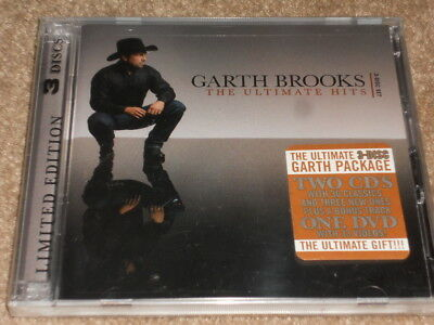 Garth Brooks 34 Ultimate Greatest Hits  2 CD 33 Video DVD Limited Edition SEALED