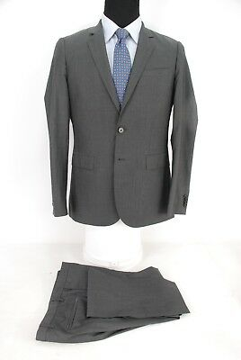 1412a90c2 Recent Hugo Boss 2Btn Suit Ryan/Win Gray Lightweight Wool Flat Front 38R