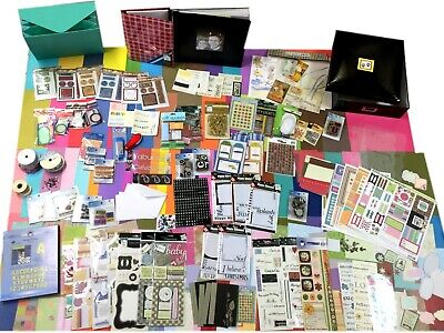 BULK Ultimate Card Making & Scrapbooking Beginners Kit Album Papers Cards + MORE