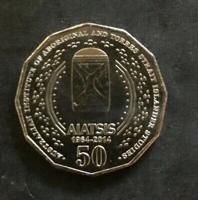 2014 AIATSIS 50c Coins. Uncirculated And From Royal Australian mint Bag.