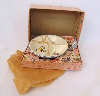 Vintage 1900s Farberware Brooklyn Ceramic Warming Dish Metal Base/Cap/Box