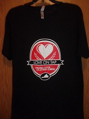 Virginia is For Craftbeer Lovers black M t shirt love on tap
