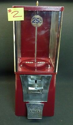 Eagle Gumball Candy Vending Machine w/Lock Key & Base Cleaned &Tested Working #2