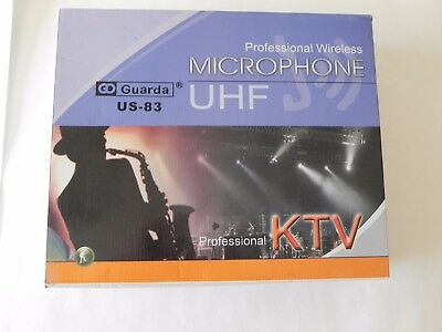 Professional Wireless Microphone UHF Guarda US-81 for Home use and Recording