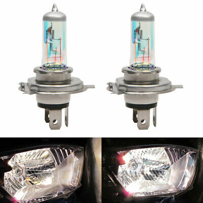 H7 H4 Bulbs 100w 8500k Xenon Super White All Weather Effect Look Headlight 12v
