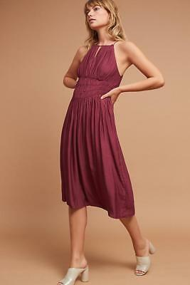 e40fec14206f NWT ANTHROPOLOGIE by MOULINETTE SOEURS Smocked Halter Midi Dress Sz 2